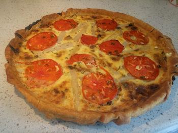 Quiche tomate asperge Lavachequireve
